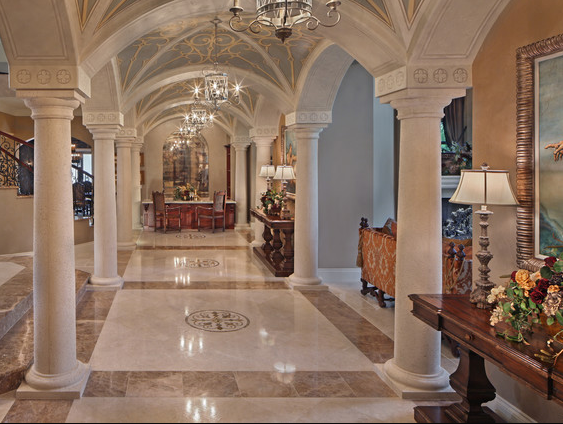 A Look At Some Groin Vaulted Hallways From Houzz Com