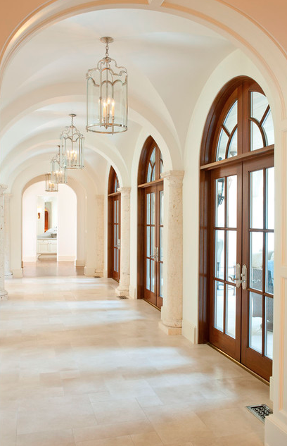A Look At Some Groin Vaulted Hallways From Houzz.com