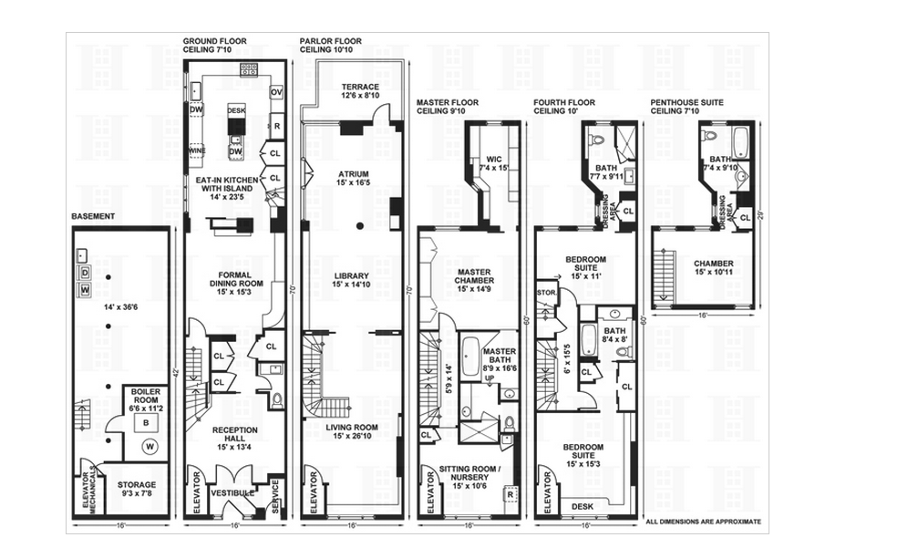 Nyc Townhouse Floor Plans: $18.9 Million Newly Listed 6 Floor Townhouse In New York