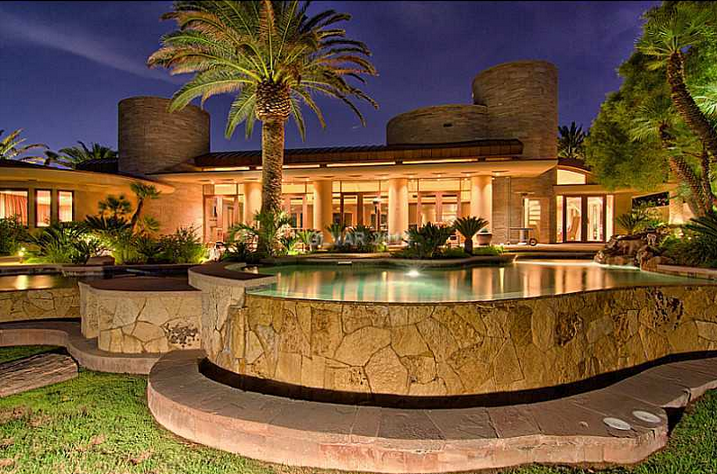 10,000 Square Foot Contemporary Mansion In Las Vegas, NV