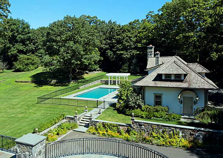 Newly Listed $10.85 Million Stone Colonial Mansion In Greenwich, CT