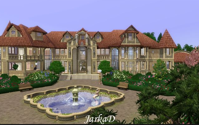 A Look At Some Mansions Made On The Sims on Luxury Mansion Floor Plans