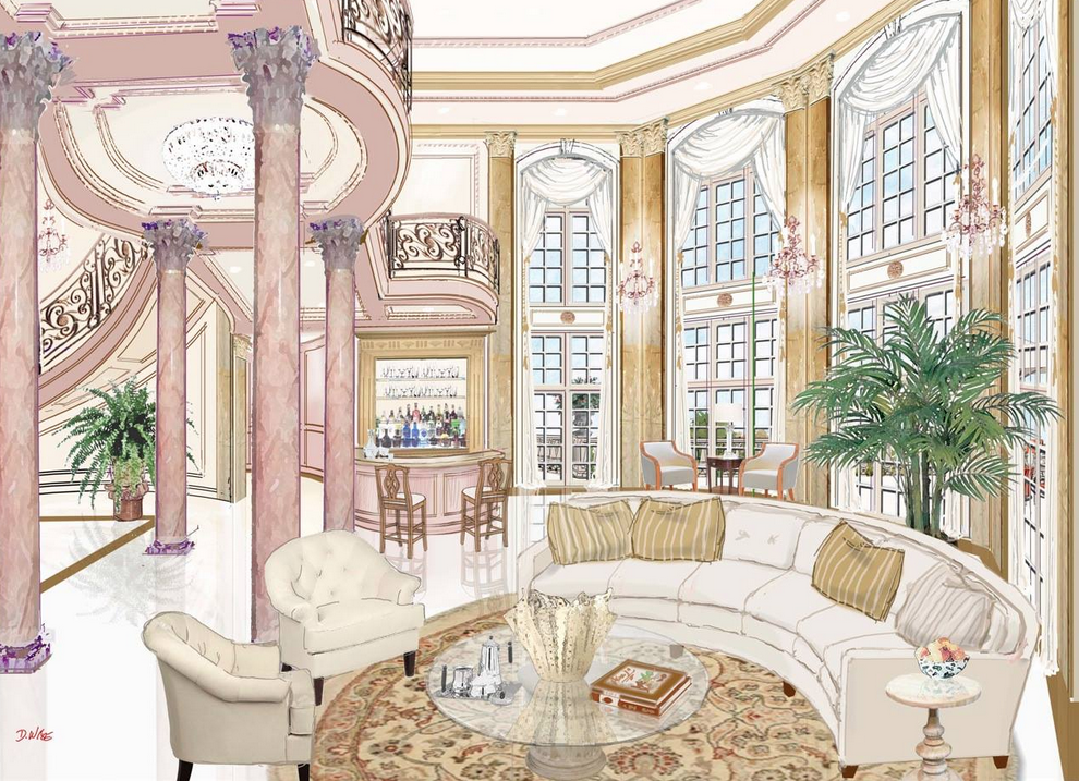 Renderings of a french chateau in nigeria by d alessio inspired architectural designs homes of for Architectural design homes pictures