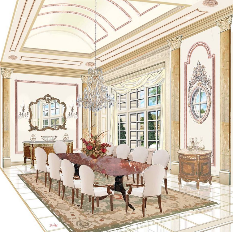 Renderings of a french chateau in nigeria by d alessio for Nigeria window design