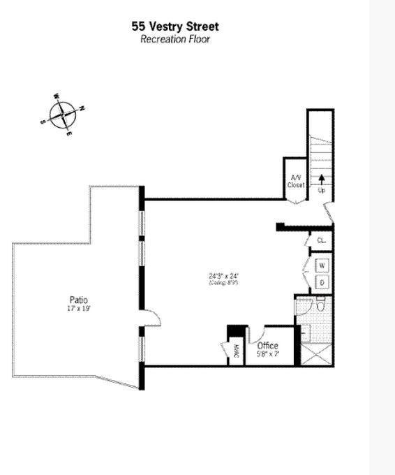 $9.5 Million 3-Floor Condo In Tribeca