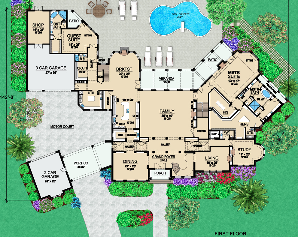 Two mansion plans from dallas design group homes of the rich for Mansion design plans