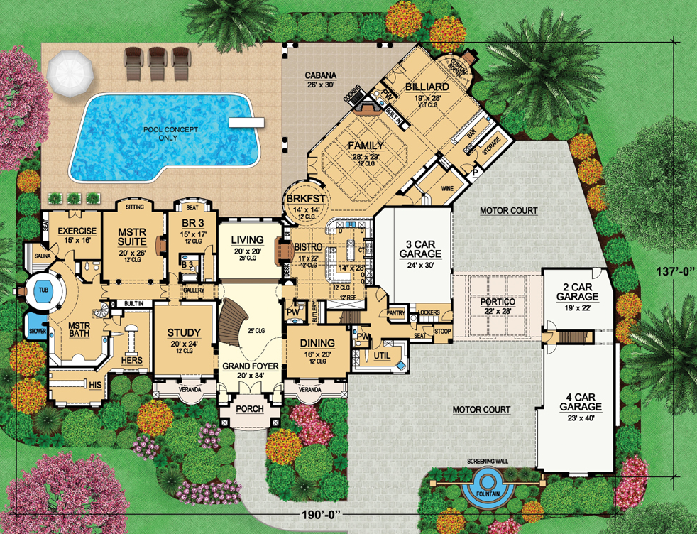 Two mansion plans from dallas design group homes of the rich for Pictures of house designs and floor plans