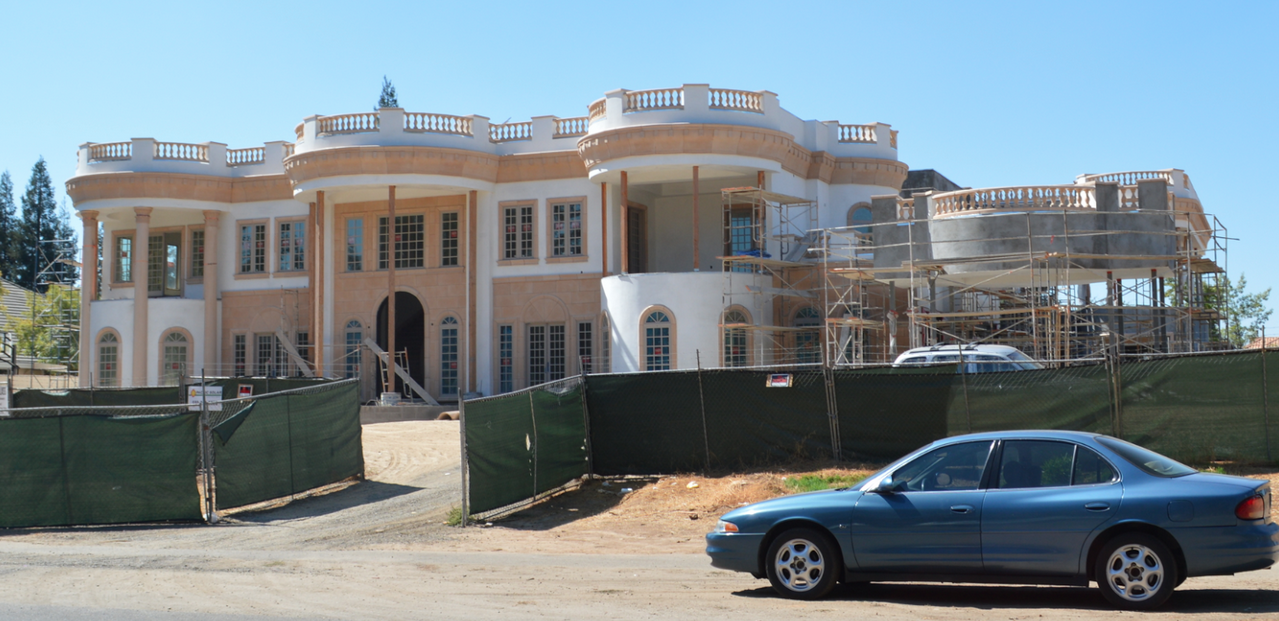 Large mansion under construction in fresno ca homes of for Rich homes in california