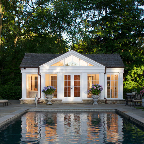 A Look At Some Pool Houses From Houzz Com Homes Of The Rich