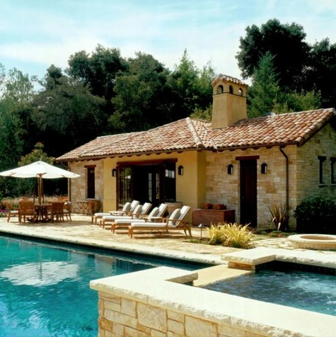 A look at some pool houses from homes of the rich for Pool design houzz