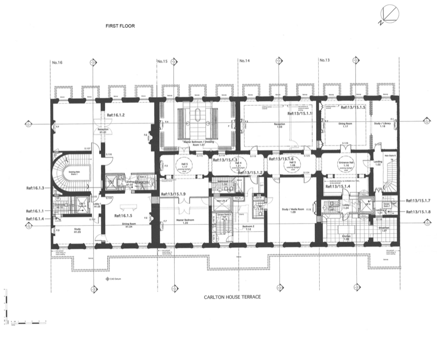 Floor Plans To 13 16 Carlton House Terrace In London