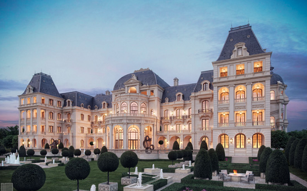 Proposed landry designed mega french chateau confirmed to for Chateau homes