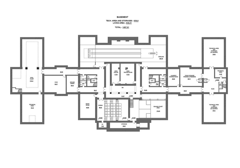 50000 sq ft home plans for Mega house plans