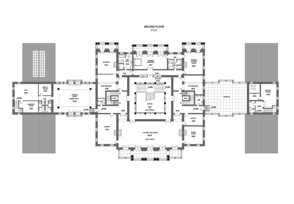 A hotr reader s 50 000 square foot mega mansion design for 12 000 square foot home floor plan