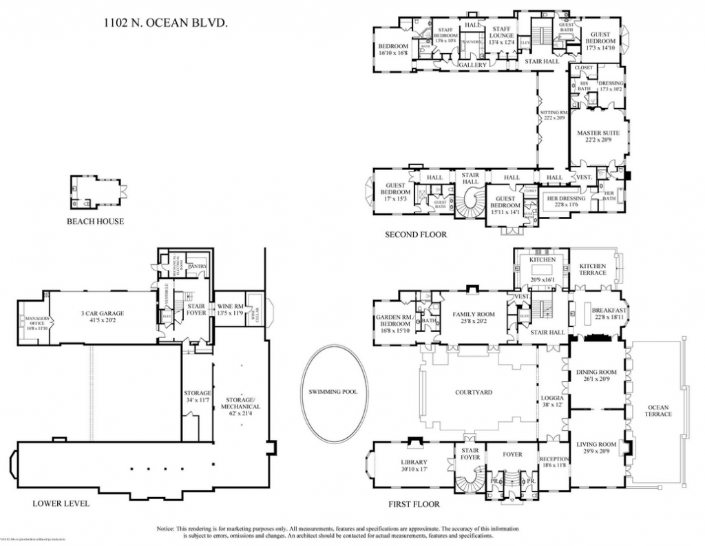 Newly listed 32 million georgian style mansion in palm Mansion floor plans