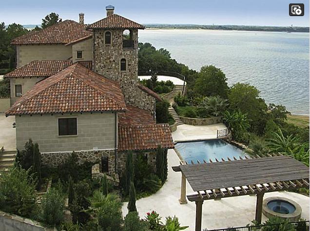 10,000 Square Foot Waterfront Italian Villa In Flower Mound, TX