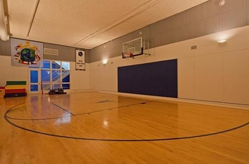 17 million 19 000 square foot contemporary estate in for Building indoor basketball court