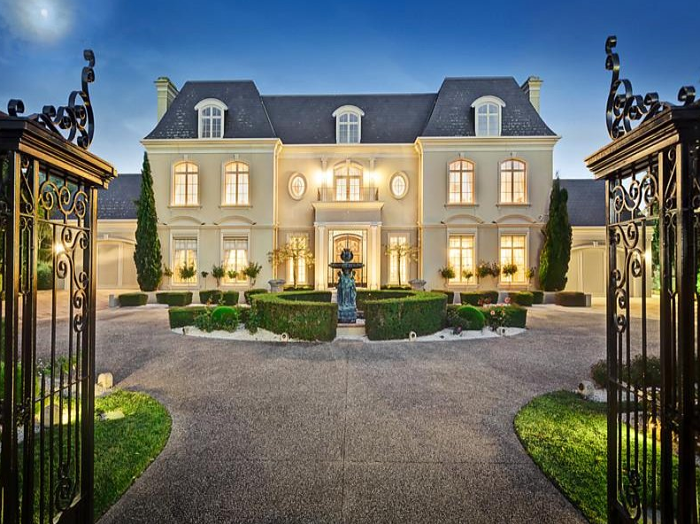 French chateau style gated mansion in victoria australia for French chateau style
