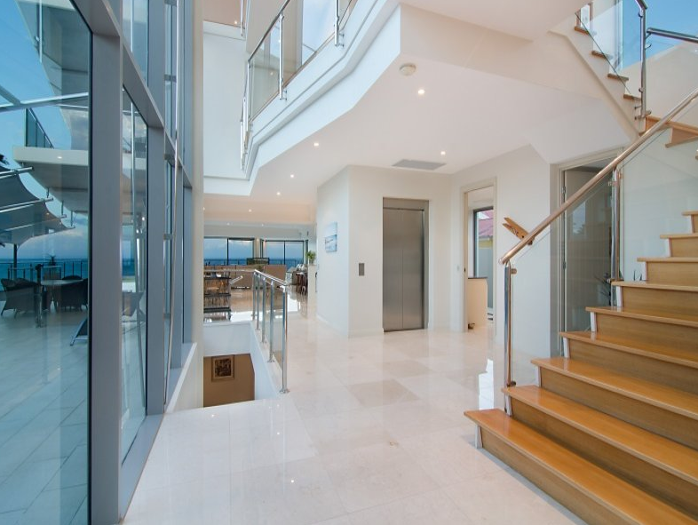 Foyer Staircase Qld : Modern waterfront mansion in queensland australia homes