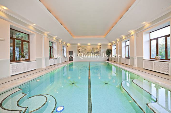 37 000 square foot estate in russia with indoor pool and for Average square footage of a pool