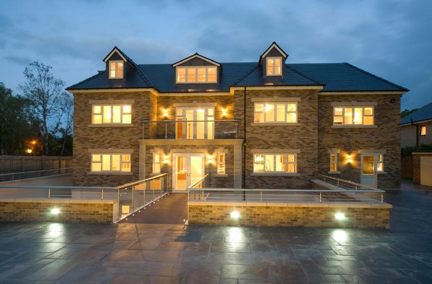 Newly Built Brick Mansion In Newcastle Upon Tyne, England