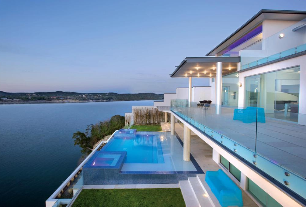 Acquavilla A Unique Waterfront Mansion In Austin TX