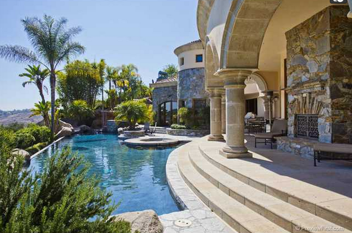 10,000 Square Foot Mediterranean Mansion In Poway, CA