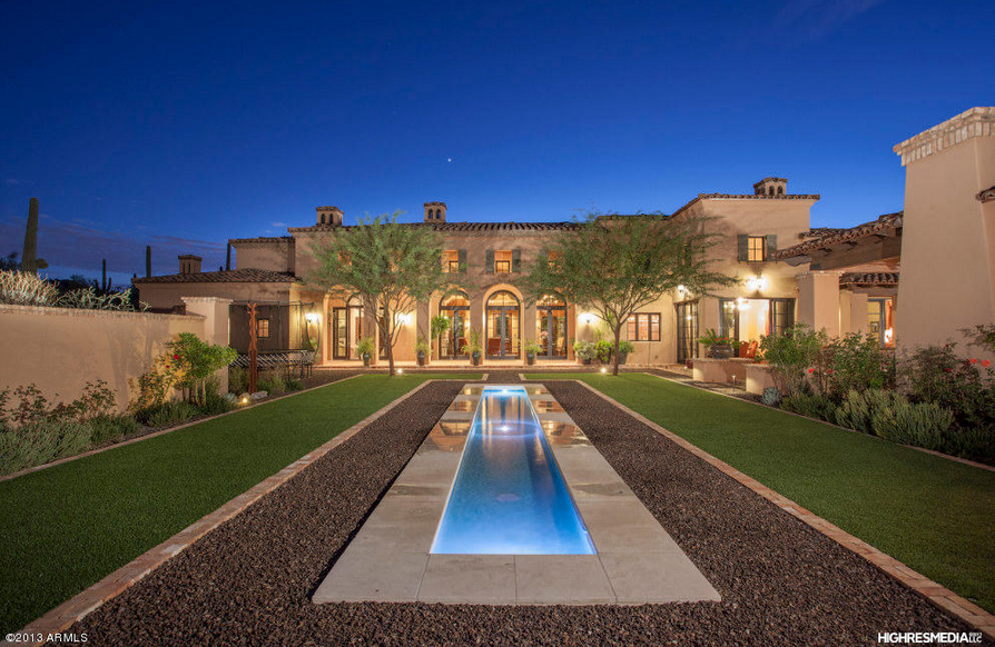 6 Million Elegant Spanish Style Mansion In Scottsdale Az