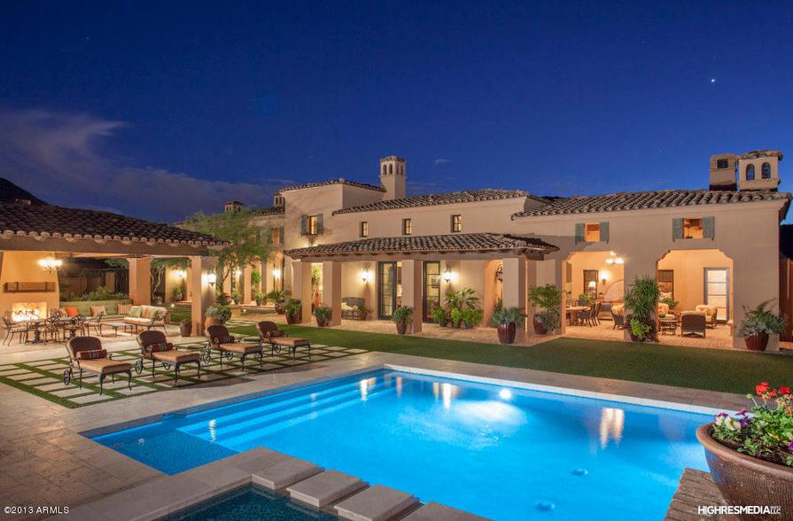 6 Million Elegant Spanish Style Mansion In Scottsdale Az