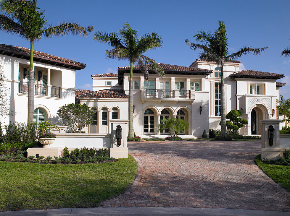 Beautiful mediterranean mansion in weston fl homes of for Modern houses in florida