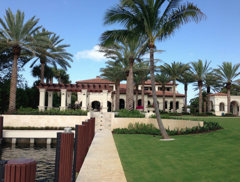 Newly Built Waterfront Mansion In Boca Raton, FL