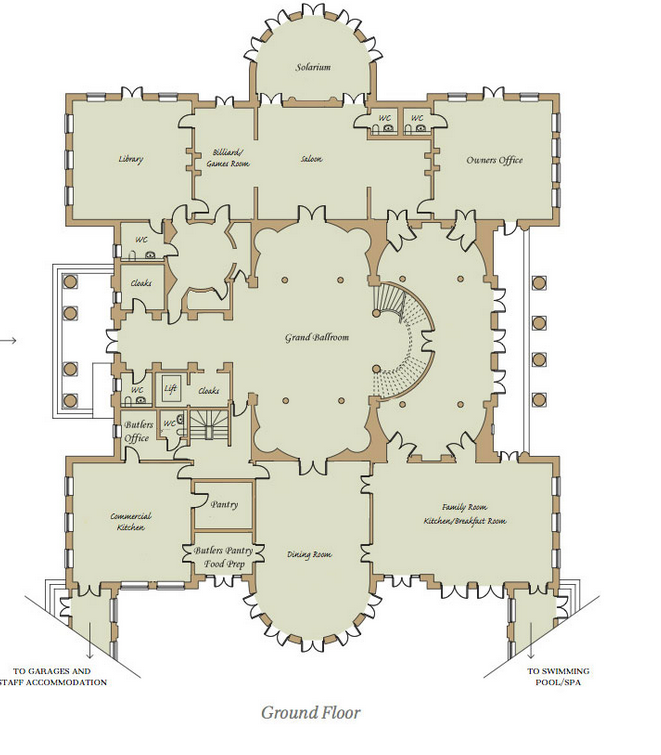 Homes of the rich readers revised floor plans to for Mega mansion floor plans