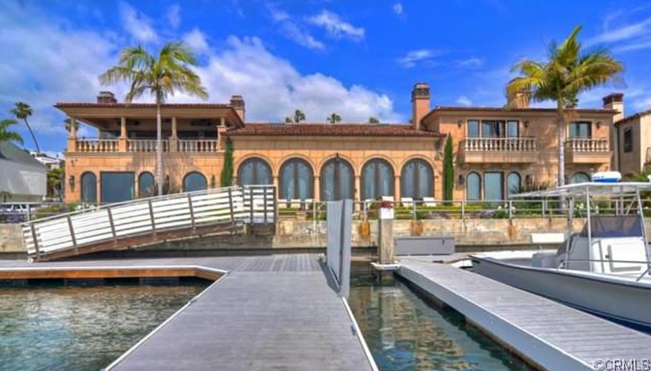10 9 million mediterranean waterfront mansion in long for Rich homes in california