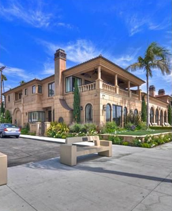 Long Beach Beach Houses: $10.9 Million Mediterranean Waterfront Mansion In Long