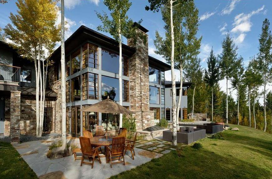 Million contemporary estate in aspen co homes of for Celebrity homes in aspen