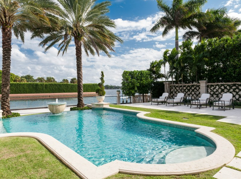 $15.75 Million Newly Built Mediterranean Waterfront Mansion In Palm Beach, FL