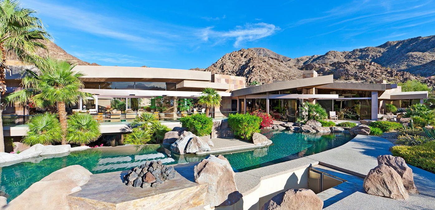 Incredible 26,000 Square Foot Contemporary Mega Mansion In Indian Wells, CA