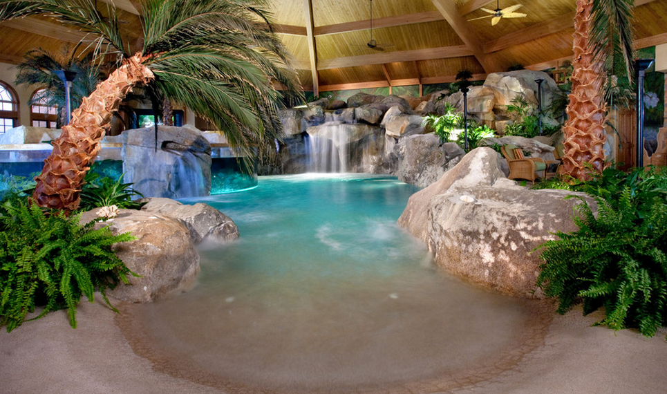 A Look At Two Indoor Swimming Pools By Shehan Pools | Homes of the Rich