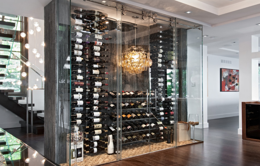 A Look At Some See Through Wine Rooms Homes Of The Rich
