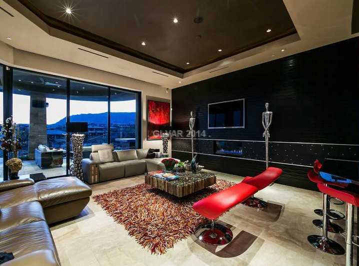 11,000 Square Foot Contemporary Mansion In Las Vegas, NV