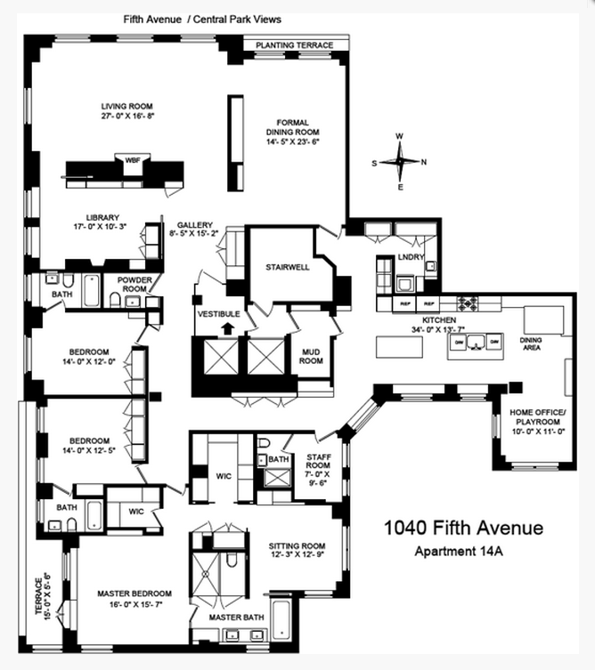 43 million newly listed apartment in new york ny homes for Apartment floor plans new york