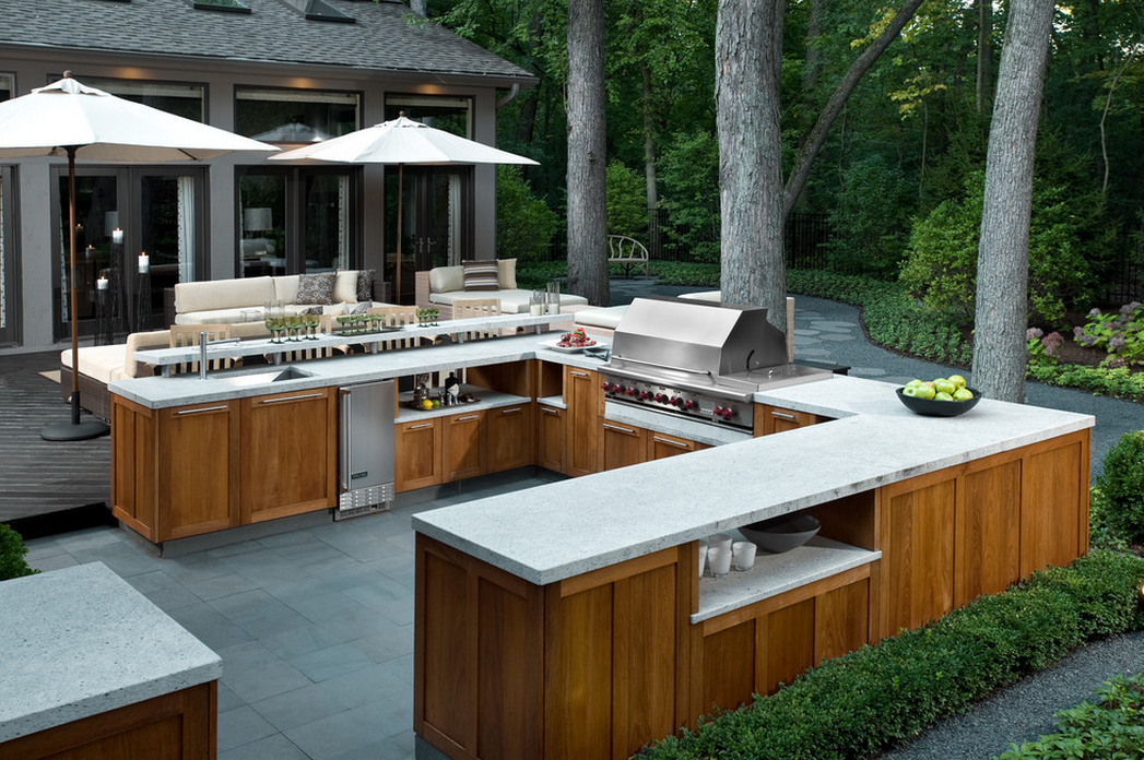 Here Is A Look At 16 Outdoor Kitchens I Found On Houzz.com. Outdoor Kitchens  Are Becoming More And More Popular. They Are A Great For Entertaining  During ...