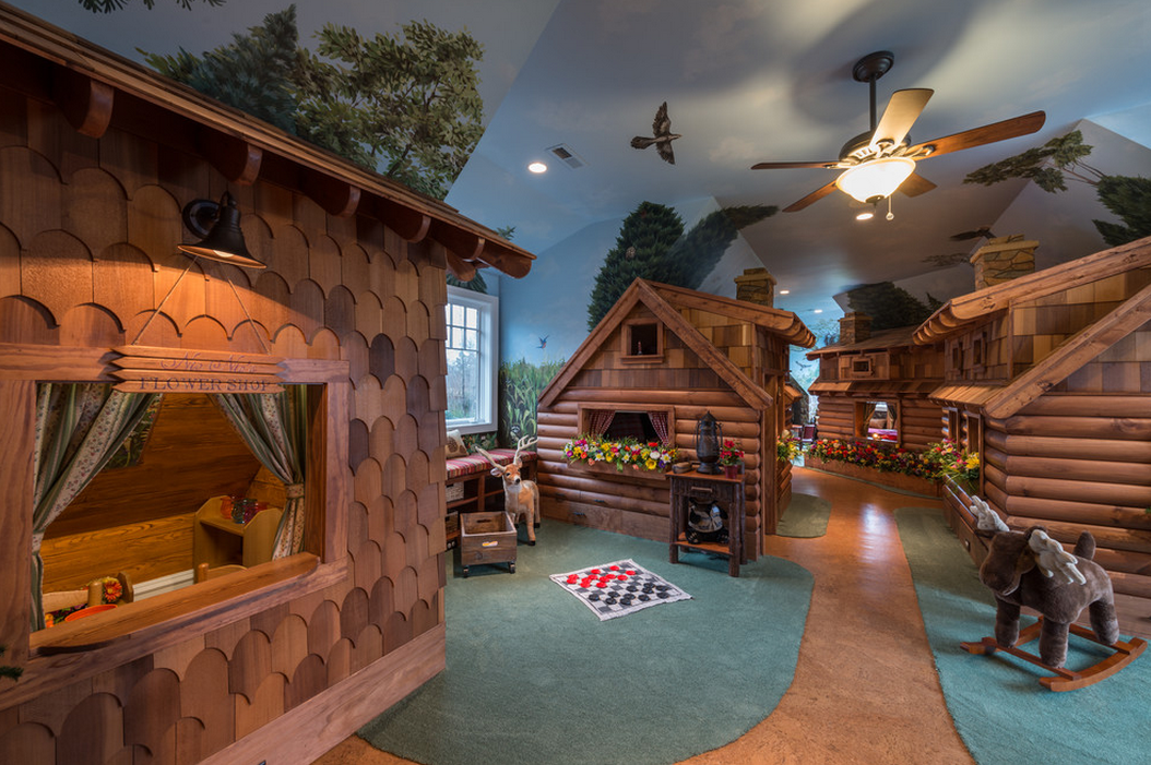 Awesome Children's Nature Themed Playroom | Homes of the Rich