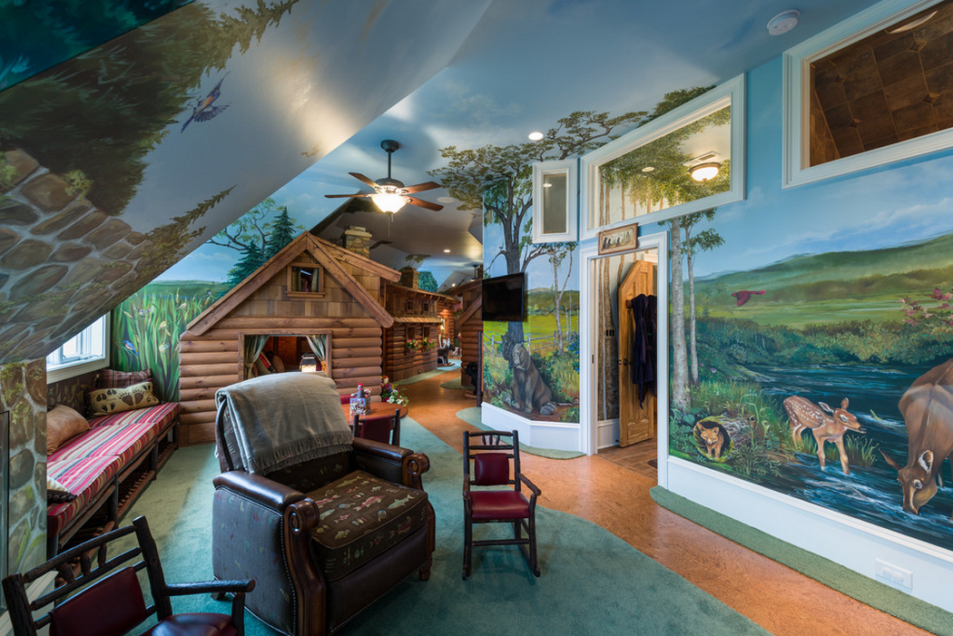 Awesome Children S Nature Themed Playroom Homes Of The Rich