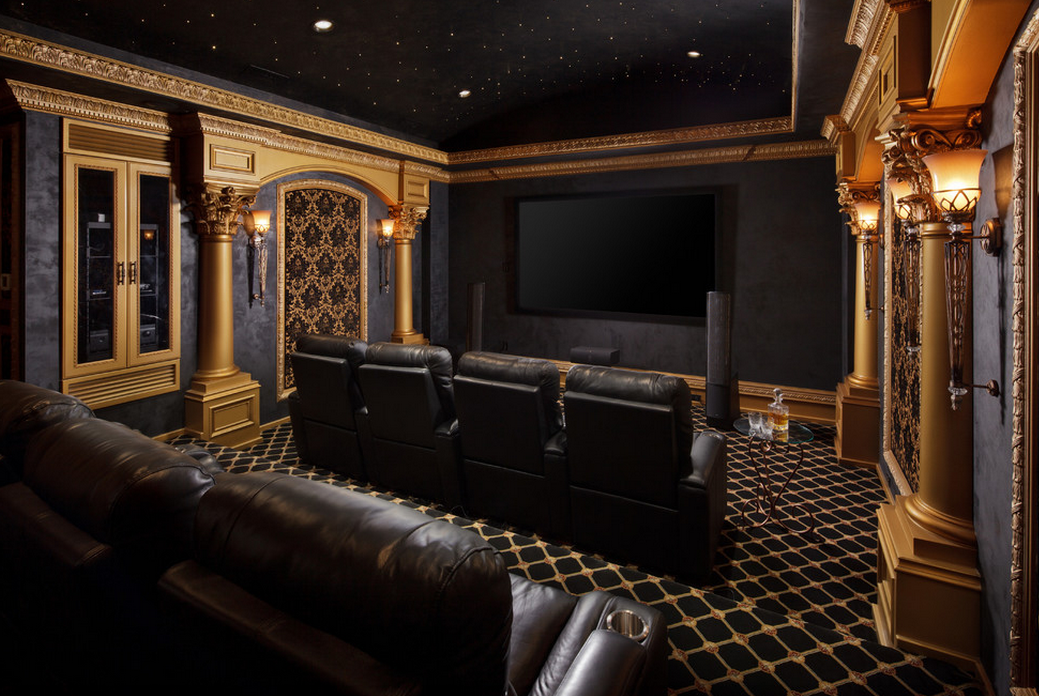 Lavish newly built mediterranean mansion in the woodlands tx homes of the rich - Home theater design dallas inspired ...
