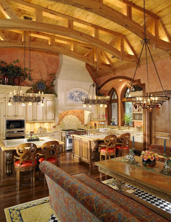 Lavish mediterranean mansion in tampa fl homes of the rich for Lavish kitchen designs