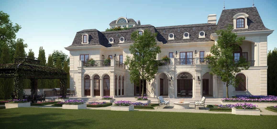 Mansion Renderings From CG Rendering