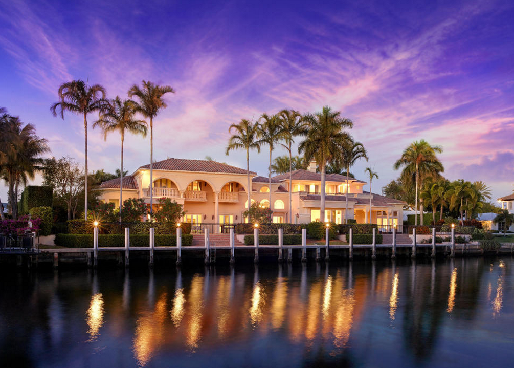 11 5 Million Newly Listed Waterfront Mansion In Boca