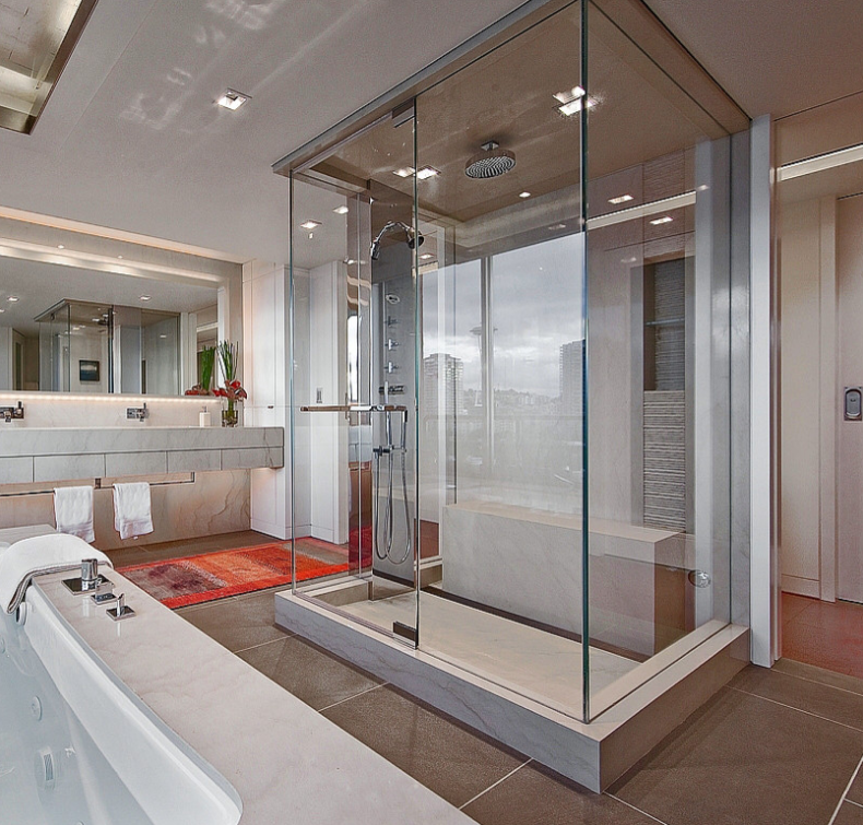 A Look At Some Glass Enclosed Showers From Houzz Com Homes Of The Rich