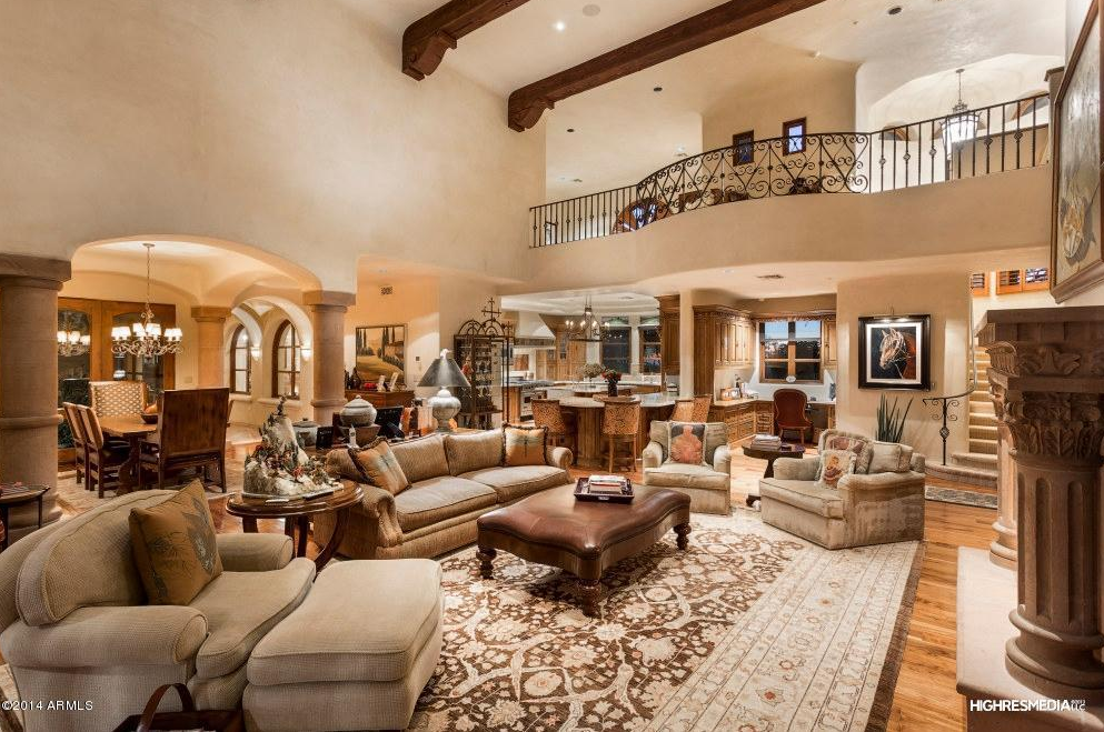 51 Million Santa Barbara Style Estate In Scottsdale Az Homes Of